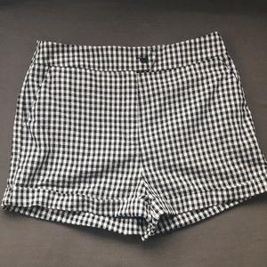 Forever 21 Black/White Woven Shorts